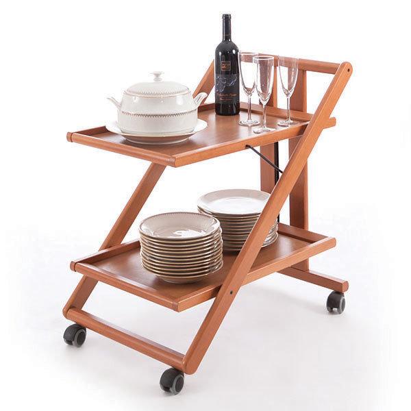 Сервировочный столик складной на колесиках Arredamenti - GIMMY CHERRY