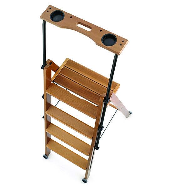 Деревянная лестница - стремянка 4 ступени Arredamenti - TUSCANIA CHERRY